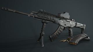 оружие, 3d, render, автомат, тюнинг