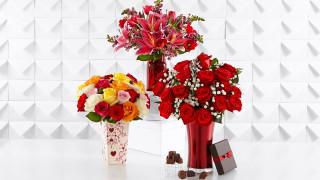 лилии, розы