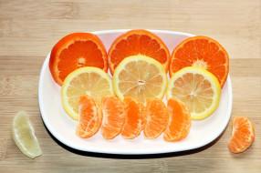 лимон, мандарин, апельсин