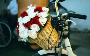 корзинка, розы