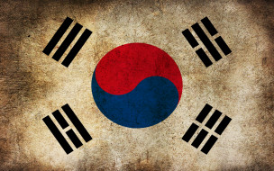 Южная Корея, флаг, грязь