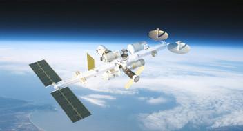 космос, космические корабли,  космические станции, mir, 2