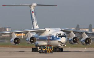 аэродром, транспортный, самолёт, ИЛ- 76