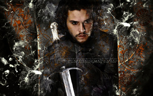 мужчина, меч, взгляд, фон