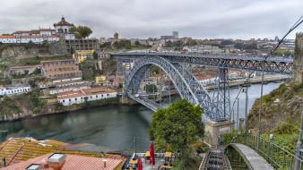 porto portugal luis i bridge, города, порту , португалия, простор