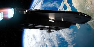 полет, космический корабль, вселенная, галактики