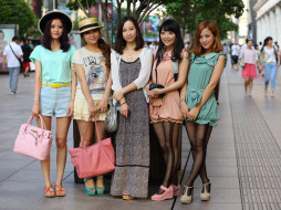 девушки, -unsort , азиатки, улица, город, модели