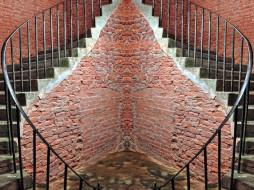 лестница, кирпичи, угол