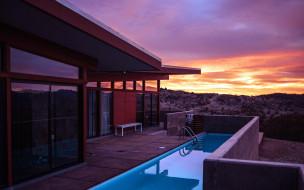 интерьер, веранды,  террасы,  балконы, закат