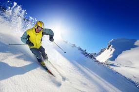 спорт, лыжный спорт, снег, горы