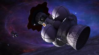 вселенная, полет, космический корабль, галактики