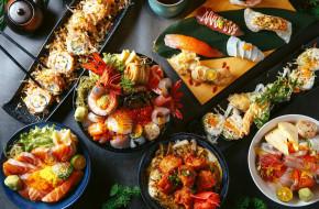 креветки, суши