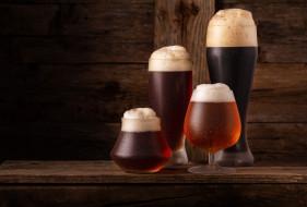 пена, пиво, бокалы