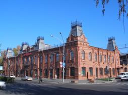 Россия, здание, город, Барнаул, улица, автомобили