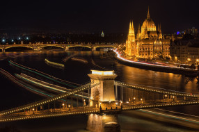 Budapest, город, ночь