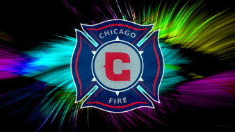 Chicago, Fire Soccer Club, фон, логотип