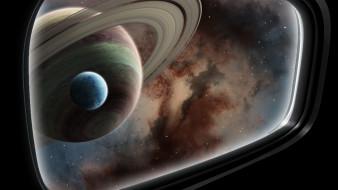 космос, арт, вселенная, галактики, планета, звезды