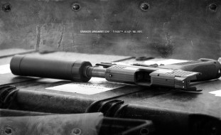 оружие, пистолеты с глушителемглушители, пистолет, глушитель, ящик