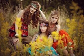 хиппи, модели, девушки
