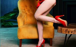 туфли, кресло, ножки
