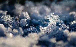 снег, кристаллы