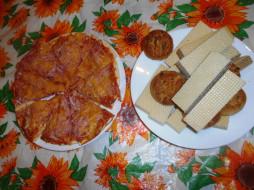 печенье, еда, пицца, вафли