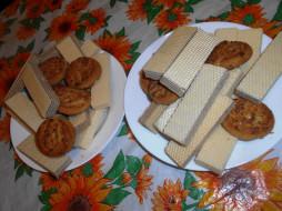 еда, пирожные,  кексы,  печенье, печенье, вафли