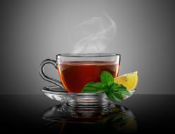 еда, напитки,  чай, лимон, чай