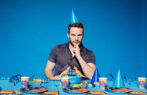 взгляд, торт, мужчина, Chris Pratt