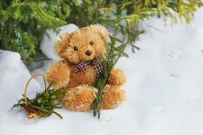 праздничные, мягкие игрушки, мишка, плюшевый