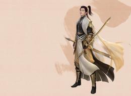 cang jian lin, оружие, geng xin, воин, парень