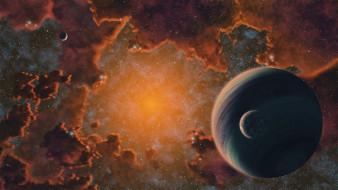космос, арт, звезды, галактики, вселенная, планеты