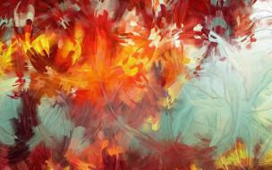 осень, цвета, мазки