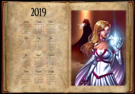 календари, фэнтези, девушка, магия