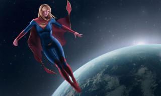 рисованное, комиксы, supergirl