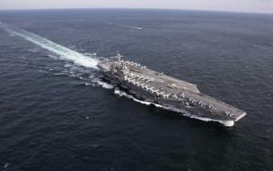 авианосец, nimitz, военные корабли, океан, вмс сша, cvn 72, американский авианосец, ядерный реактор