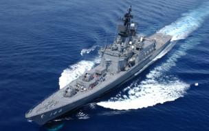 эсминец, jmsdf, морские силы самообороны, ddh144, ширане, военные корабли, море, япония
