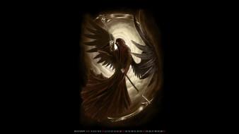 крылья, плащ, смерть, коса