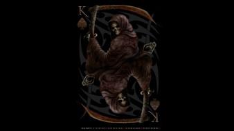 скелет, смерть, капюшон, коса, нежить