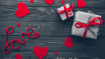 сердечко, подарок, фон