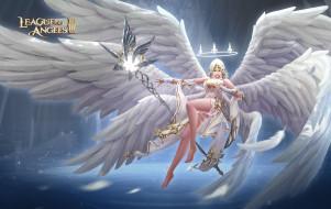 посох, крылья, корона, ангел, девушка