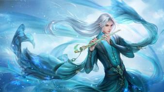 магия, музыкант, флейта, парень