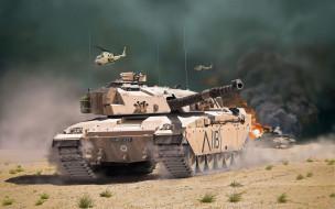 mbt, британский, танки, пустыня, британская армия, камуфляж, бронетехника