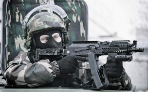 оружие, армия, спецназ, автомат, камуфляж, экипировка