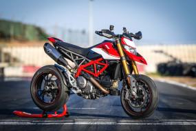 ducati hypermotard 950 sp, 2019, мотоцикл, трек, дукати