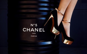 бренды, chanel, темный, фон, бочка, туфли