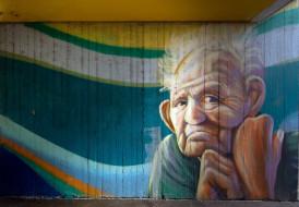 стена, граффити, город