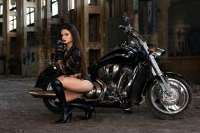 мотоциклы, мото, девушка