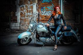девушка, мотоциклы, мото