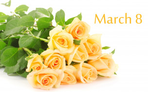 розы, 8 марта, букет